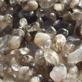 1kg Fumê Rolado Pedra Comum Tamanho Grande Quartzo Esfumaçado