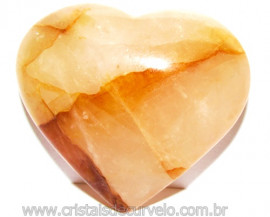 Coração Hematoide Amarelo Natural Presente Ideal Cod 114770