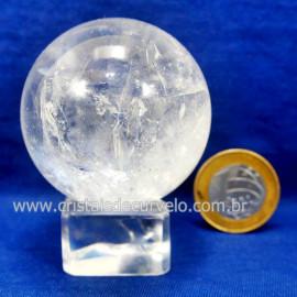 Bola Cristal Boa Qualidade Esfera Pedra Natural Cod 127545