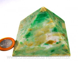 Piramide Jadeita Baseada Queops Pedra Comum Lapidado Manual Cod PJ355.1