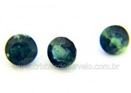 Gema Turmalina Azul Pedra Natural 0.5ct 5mm Reff TA5960