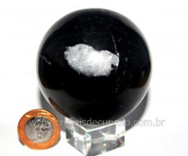 Esfera Pedra Dolomita Preta Mineral Natural Garimpo Cod EP4003