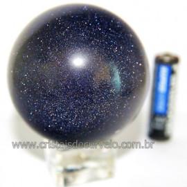 Esfera Pedra Estrela Pigmentado Cintilante Azul Cod 109487