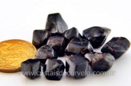 Granada Andradite Pedra Rolado Miudo Pacotinho 20 Gr Mineral Natural