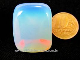 Pedra da Lua ou Opalina Rolado Unid Para Mandala Pingente Colar e Outros Cod 20.5