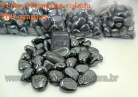 Hematita Rolado Pacotinho com 200 Gr de Pedra Natural Hematita Lapidado Rolada