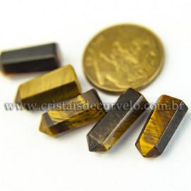 05 Micro Pontinha cristal Olho de Tigre 15mm pra montar joias