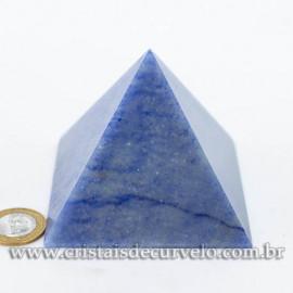 Pirâmide GRANDE Pedra Quartzo Azul Natural Queops cod 120750