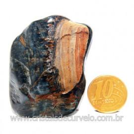 Olho de Falcão Rolado Pedra Natural Origem África Cod 123559