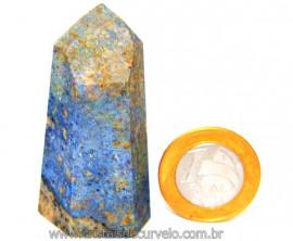 Ponta Dumortierita Pedra Natural Gerador Sextavado Cod PD9145
