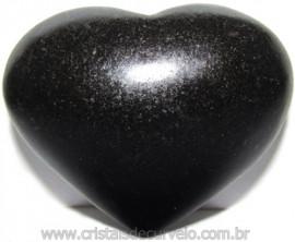 Coraçao Quartzo Preto Quartzito Negro Natural Cod 115343