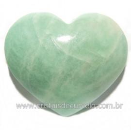 Coraçao Amazonita Verde Natural Ideal P/ Presente Cod 118253