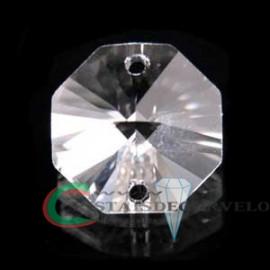 Castanha Cristal Facetado com 02 Furos Ideal Montagem Brincos Pingente Lustres