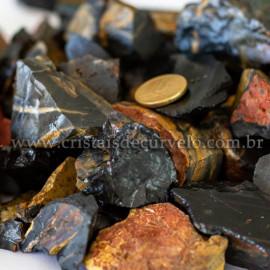 01kg Cascalho Onix Preto Pedra Bruto Pra Orgonite 112885