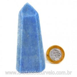 Ponta Quartzo Azul Pedra Natural Gerador Sextavado Cod 127774