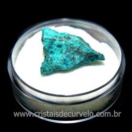 Crisocola Bruto Lasca No Estojo Mineral Natural Cod 118521