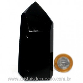 Ponta Obsidiana Negra Mineral Vulcanico Natural Cod 126087
