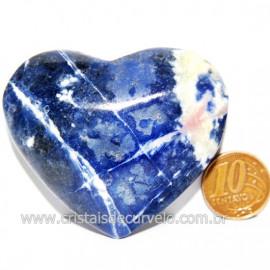 Coração Sodalita Pedra Azul Natural de Garimpo Cod 124102