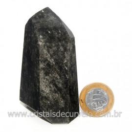 Ponta Obsidiana Negra Mineral Vulcanico Natural Cod 128517