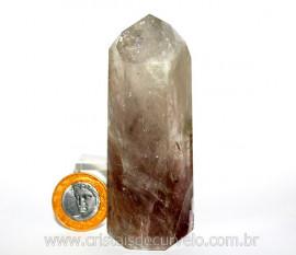 Ponta Prasiolita ou Ametista Verde Pedra Natural Cod PP4412