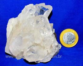 Drusa Cristal de Quartzo Pontas Para Esoterismo Cod DC4144