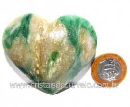 Coraçao Jade Verde Natural Origem Montes Claros MG Cod 117877