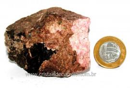 RODONITA ou Manganolita Pedra de Garimpo No Peru Cod RP1544