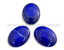 Lapis Lazuli Gema Lisa Pedra Natural 26ct 25mm Reff GL6249