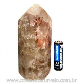 Ponta Cristal Pedra Com Inclusao Para Colecionar Cod 117683