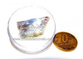 Safira Corindon Mineral Natural Estojo Colecionar Cod SC4918