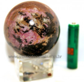 Esfera Rodonita Bola Pedra Natural de Garimpo Cod 111233