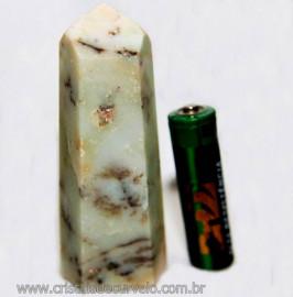 Ponta Pirofilita Verde Gerador Pedra Com Dendrita Cod 101506