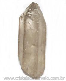 Ponta Cristal Fume Bruto Gerador Sextavado Natural Cod 114892
