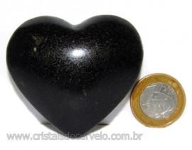 Coraçao Quartzo Preto Quartzito Negro Natural Cod 115328