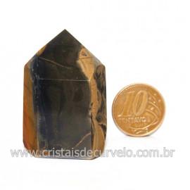 Ponta Onix Preto Pedra Natural Gerador Sextavado Cod 128921