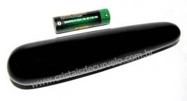 Massageador Obsidiana Negra Roliço Pedra Natural Cod MO3547