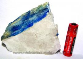 Cianita Azul Incrustado no Quartzo Branco  Cod CI7603