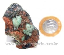 Esmeralda Canudo Incrustado Matriz Xisto Pedra Natural Cod 121318