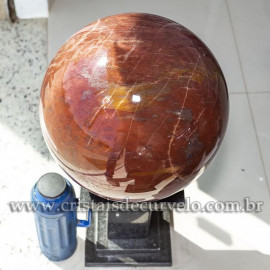 Bola Gigante 68kg Quartzo Vermelho Pedra Natural Cod 120787