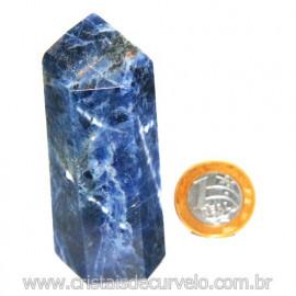 Ponta Sodalita Pedra Natural Gerador Sextavado Cod 119952
