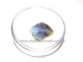 Safira Corindon Mineral Natural Estojo Colecionar Cod SC4662