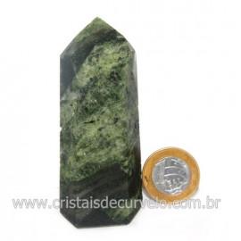 Ponta Epidoto Verde Na Matriz Ideal Para Coleção Cod 128503