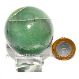 Esfera Quartzo Verde Pedra Natural Bola Lapidado Cod 118809