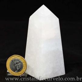 Obelisco Quartzo Leitoso Pedra Natural Lapidado Cod 112985