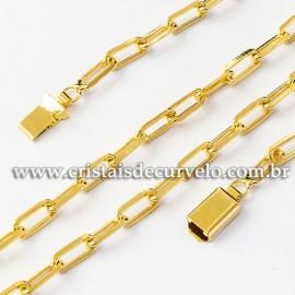 Cordão ou Correntinha Modelo CARTIER GRANDE Dourada 112514
