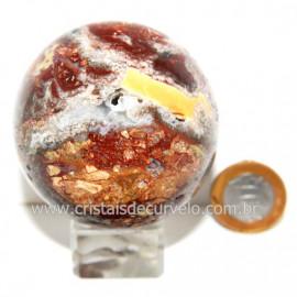 Esfera Quartzo Jiboia Pedra Natural Lapidação Bola cod 124173