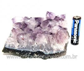 Drusa Ametista Pequena Pedra Natural Boa Cor Cod 119704