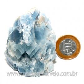 Calcita Azul Pedra Natural Ideal P/ Colecionador Cod 123742