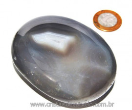 Massageador de Seixo Pedra Agata Natural Cod MA7910