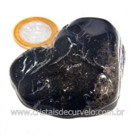 Massageador De Seixo Pedra Onix Preto Natural Cod 123853